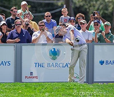 Dustin Johnson at the 2012 Barclays Editorial Photography
