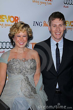 Dustin Lance Black, Yeardley Smith Editorial Image