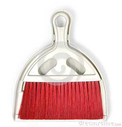 Dustpan and Red Plastic broom set