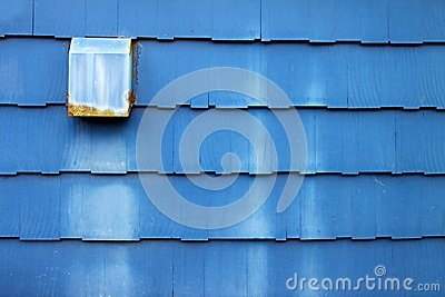 Dusty Blue Wooden Shingles