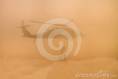 Dusty Marine Unit Search Rescue Training Editorial Stock Image