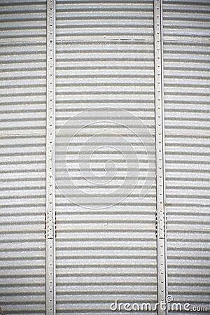 Dusty metal, industry panels.