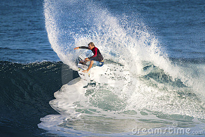 Dusty Payne of Hawaii, Surfing at Off the Wall Editorial Image