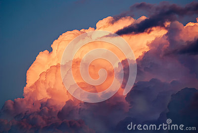 Dusty Pink Storm Clouds