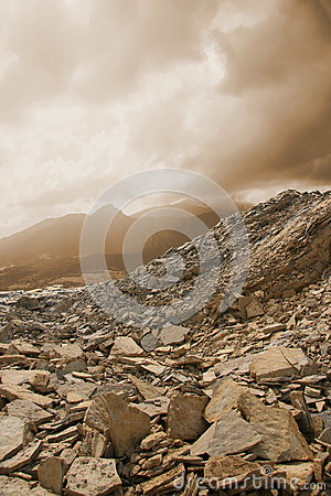 Dusty quarry