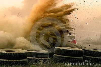 Dusty rally racing