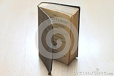 Dusty worn books