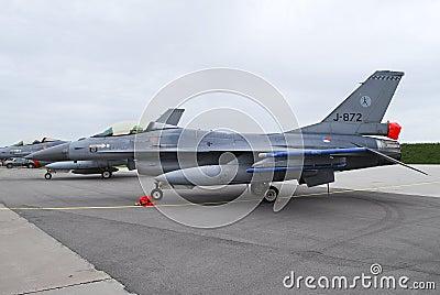 Dutch Air Force F-16 Editorial Stock Photo