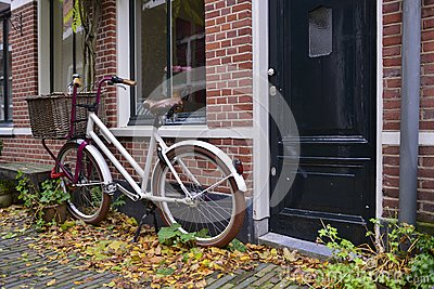 Dutch bike with basket