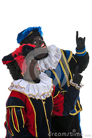 Dutch black petes pointing