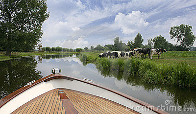 Dutch boat trip on river