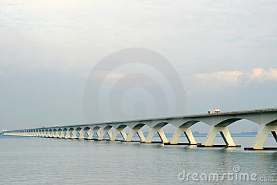 Dutch bridge over the Oosterschelde