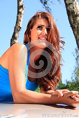Dutch brunette girl relaxing Editorial Image