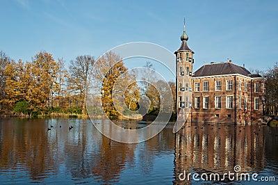 The Dutch castle Bouvigne in fall