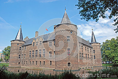 Dutch Castle Helmond,square medieval moated castle