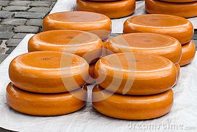 Dutch Cheese Market in Gouda Editorial Image