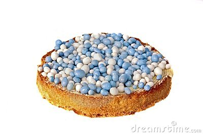 Dutch delicacy, biscuit with colored balls