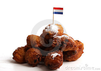 Dutch donuts called Oliebollen