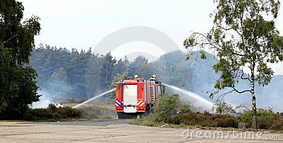 Dutch extinguishing fire brigade
