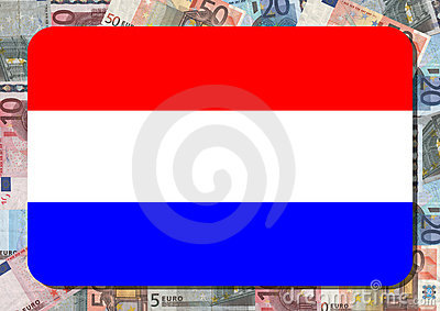 Dutch flag with euros