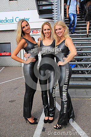 Dutch grid girls promotion team zandvoort