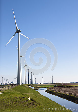 Free Dutch Industrial Landscape, Groningen Royalty Free Stock Photo - 50416085