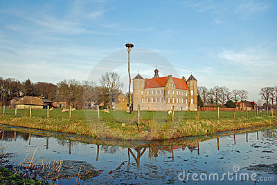 Dutch landscape- Castle Croy and farms- Laarbeek