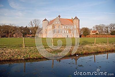 Dutch landscape- Castle Croy and farms- Laarbeek