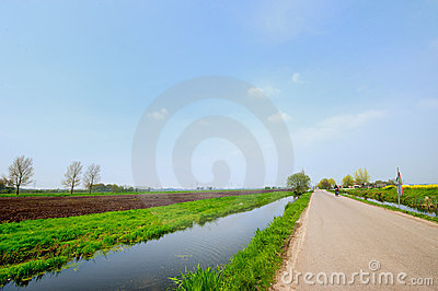 Dutch landscape with road