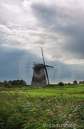 Dutch landscape with windmill