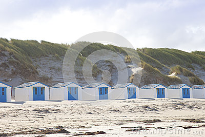 Dutch little houses on beach