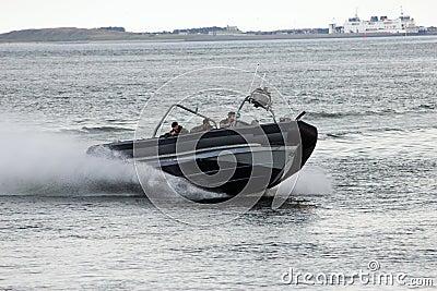 Dutch Marines speedboat Editorial Stock Photo
