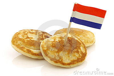 Dutch mini pancakes called poffertjes