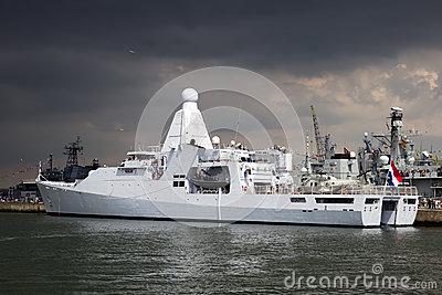 Dutch navy patrol ship Editorial Photo