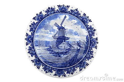 Dutch painted plate