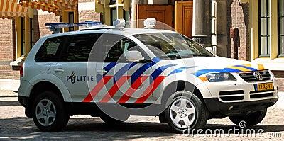 Dutch Police car Editorial Photography