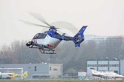 Dutch police helicopter landing Editorial Image
