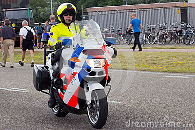 Dutch police motorbike Editorial Photography