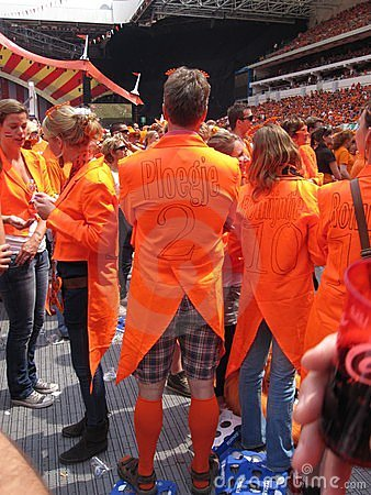 Dutch Soccer Fans Editorial Stock Image