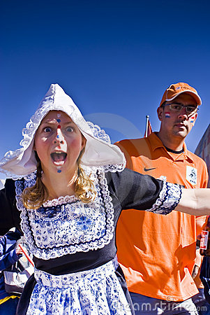Dutch Soccer Supporters - FIFA WC Editorial Stock Photo