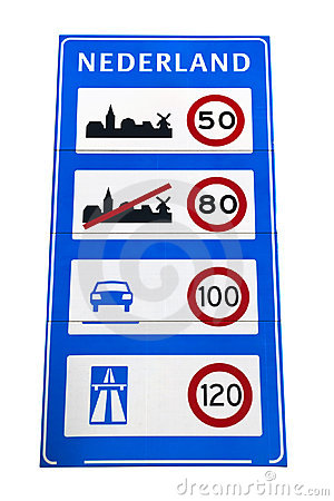 Dutch speedlimit sign