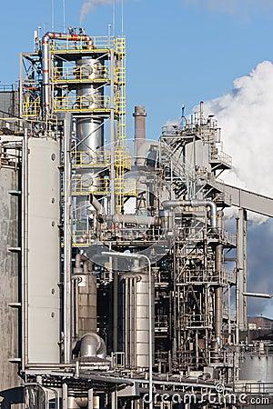 Dutch steel factory in IJmuiden