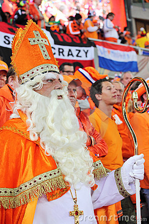 Dutch supporters watching the final match Editorial Image