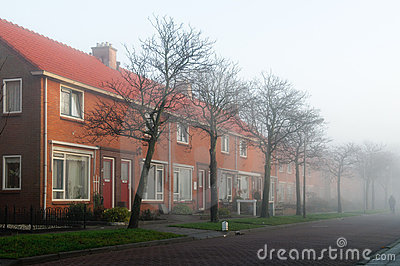 Dutch terraced houses