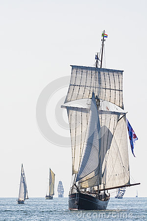 Dutch topsail schooner Wylde Swan Editorial Photography