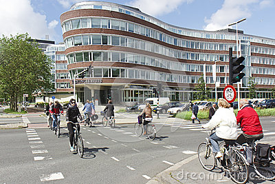 Dutch Way of Life: Cycling Editorial Stock Image