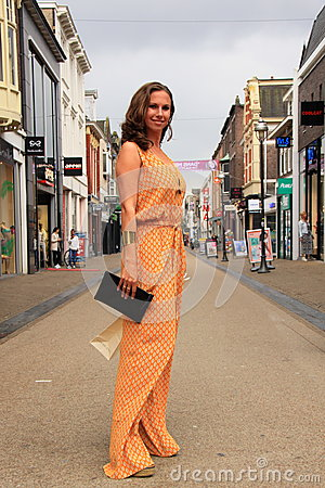 Dutch Woman Street Fashion Editorial Stock Image Image 53601684