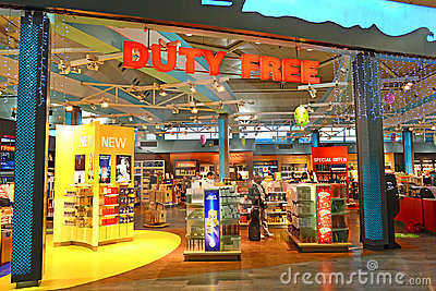 Duty Free Editorial Photo