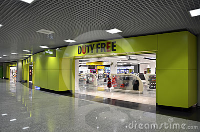 Duty free on Mallorca airport Editorial Photo