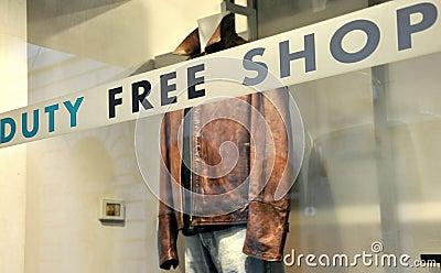 Duty free shop in Italy